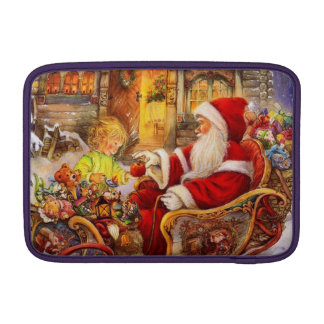 Santa sleigh - Santa claus illustration MacBook Sleeve