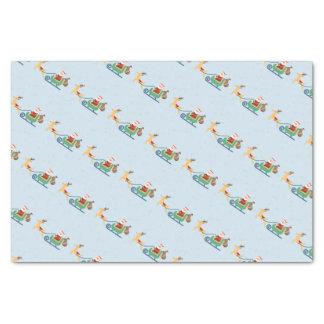 Santa Sleigh Tissue Paper