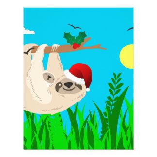 santa sloth letterhead