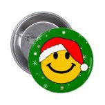 Santa Smiley Buttons