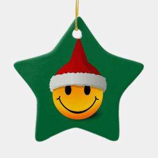 Santa Smiley Christmas ornament