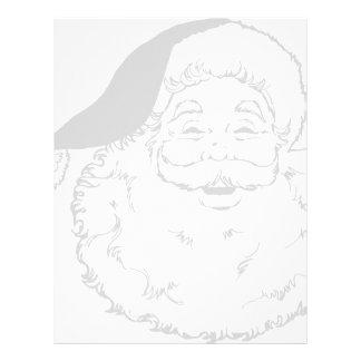 Santa Smiling Letterhead Template