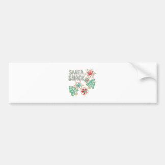 Santa Snack Bumper Sticker