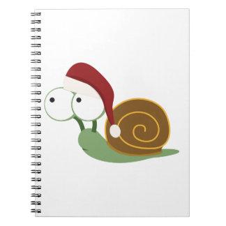 Santa Snail Spiral Note Books