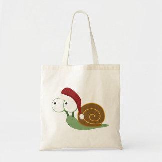 Santa Snail Tote Bag