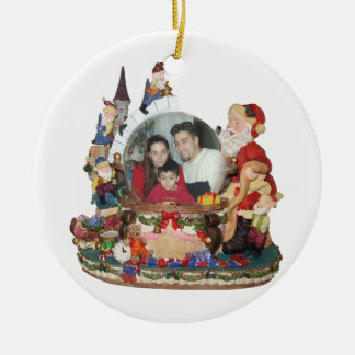 Santa snow globe photo ornament