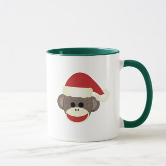 Santa Sock Monkey Christmas mug