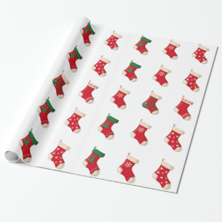 Santa Socks Wrapping Paper