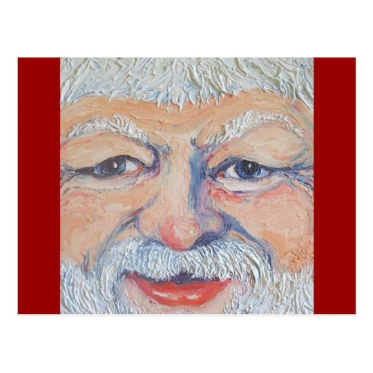 Santa Square Face Postcard