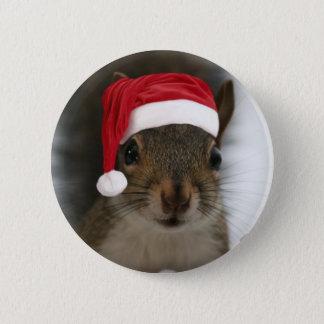 Santa Squirrel 2 Inch Round Button