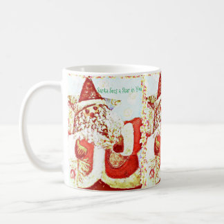 Santa Star Coffee Mug