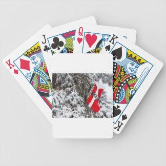 Santa Stocking Bicycle Playing Cards