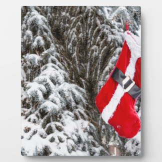 Santa Stocking Plaque