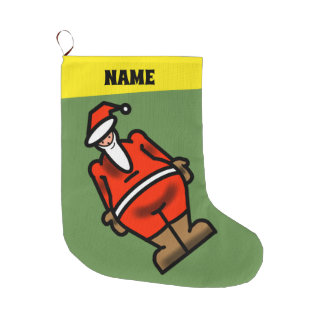 SANTA  STOCKING WITH YOUR NAME by Slipperywindow