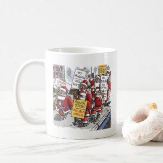 Santa Strike right hand Christmas cartoon mug