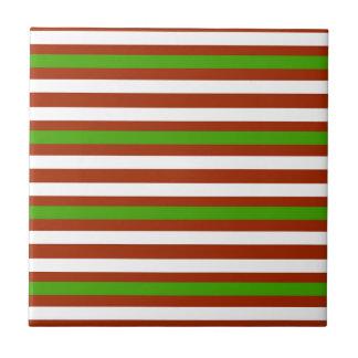 Santa Stripes Tile