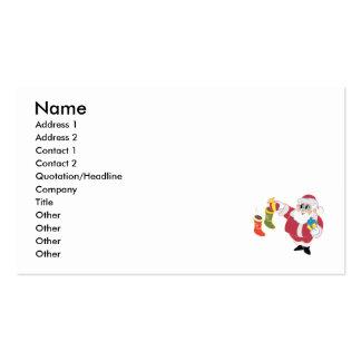 Santa stuffing stockings business card template
