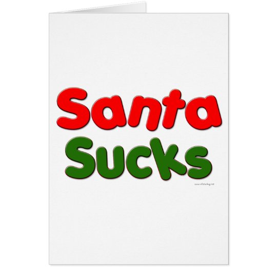 Santa Sucks Card