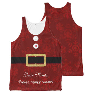 Santa Suit Christmas funny typography All-Over-Print Tank Top