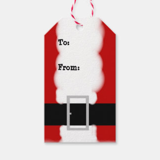 Santa Suit Christmas Gift Tags