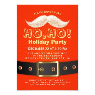 Santa Suit Christmas Ho, Ho, Holiday Party Invite