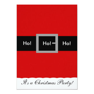 Santa Suit Christmas Invitation, Ho!, Ho!, Ho! Card