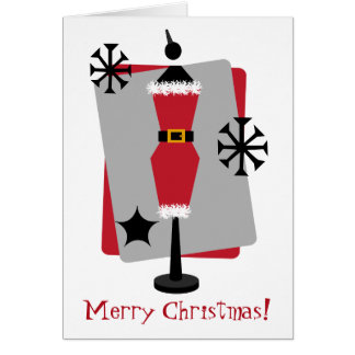 Santa Suit Dress Form Mannequin Christmas Card