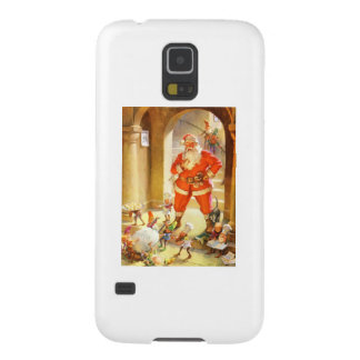 Santa Supervises Elves Baking Christmas Cookies Case For Galaxy S5