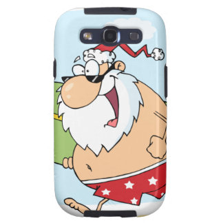 Santa-Surfer-On-The-Beach Galaxy SIII Covers