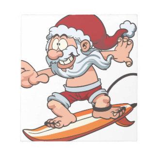 Santa Surfing Notepad