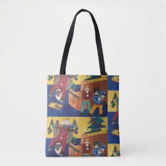 Santa Surprise Cats Tote Bag