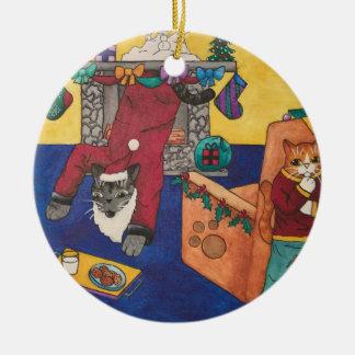Santa Surprise Ceramic Ornament