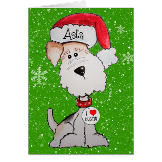 Santa Terrier CUSTOM ORDER Card