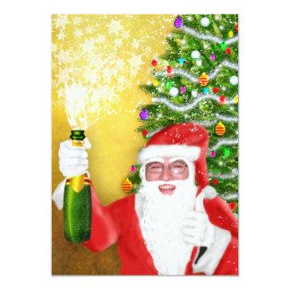 Santa thumb up custom photo invitations