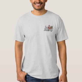 Santa Train Embroidered T-Shirt