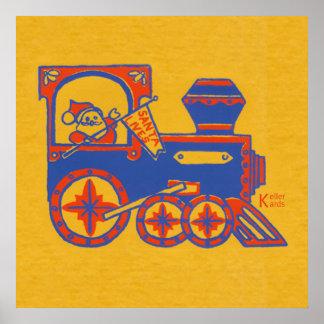 Santa Train Print