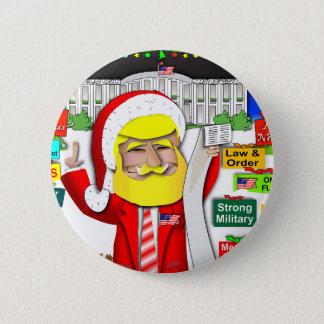 Santa Trump Ho Ho Ho 2 Inch Round Button