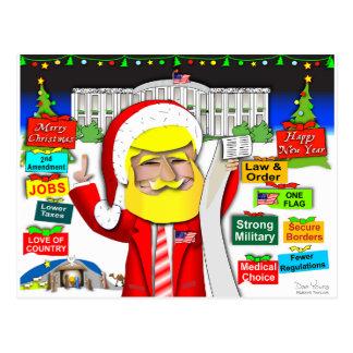 Santa Trump Ho Ho Ho Postcard