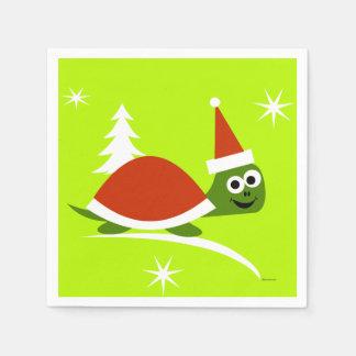 Santa Turtle Christmas Paper Party Napkins Disposable Napkin