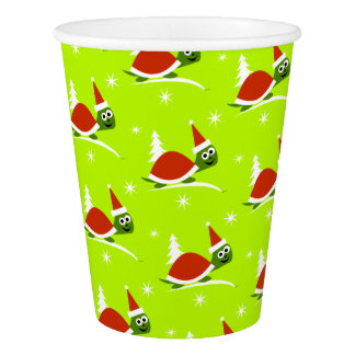 Santa Turtle Christmas Party Paper Cups