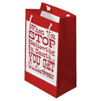 Santa Underwear Small Gift Bag