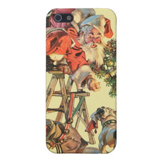 Santa Up a Ladder Cases For iPhone 5