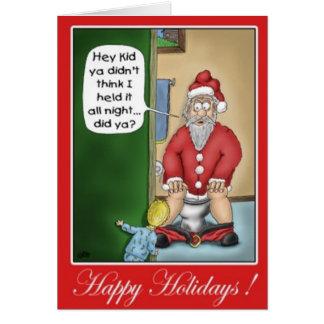 Santa Using the Restroom Card
