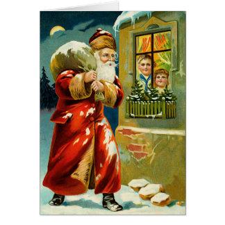 Santa Vintage Christmas Card