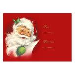 Santa Vintage Gift Tags Business Card Templates