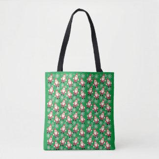 Santa Vintage Gnome Christmas Tote Bag