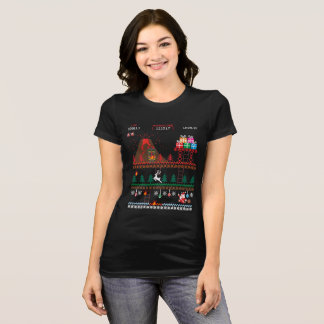 Santa vs Krampus Pixel Art 8-Bit Christmas T-Shirt