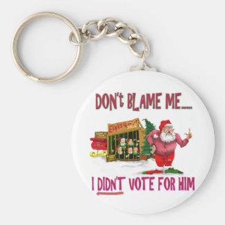 Santa w/Elves for Rent/Political Joke Key Chains