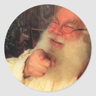 Santa Wants You Classic Round Sticker