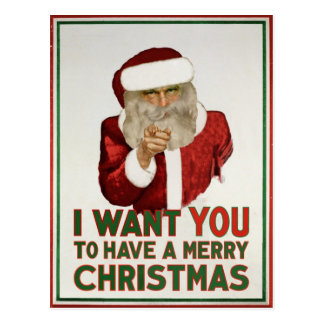 Santa Wants YOU to have a Merry Christmas Postcard